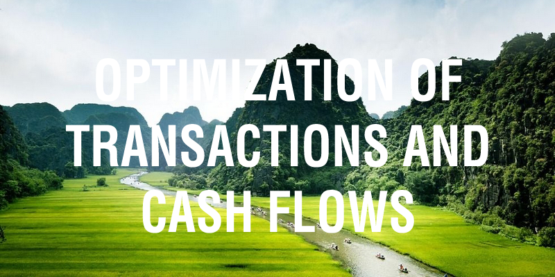 Optimization of transactions and cash flows
